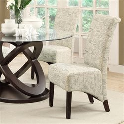 Dining Chair in Vinage French Print (Set of 2)