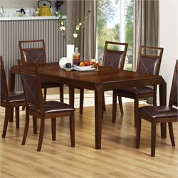 Monarch Extendable Dining Table in Brown Oak