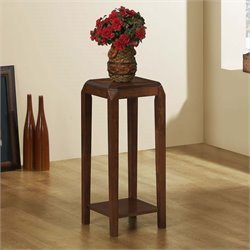 Monarch Plant Stand in Brown Oak