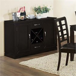 Monarch Wine Rack Server in Cappuccino
