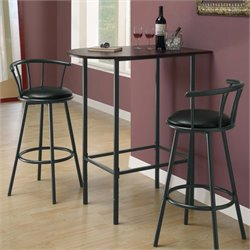 Metal Pub Table in Black and Cappuccino