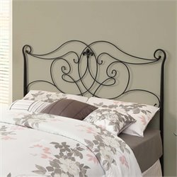 Monarch Full Queen Metal Spindle Headboard in Satin Black