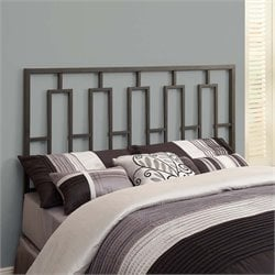 Full Queen Metal Slat Headboard in Satin Black