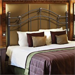 Monarch Full Queen Metal Slat Headboard in Black