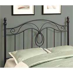 Full Queen Metal Slat Headboard in Black