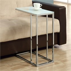 Monarch Glass Top Side Table in Chrome