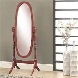 Monarch Oval Cheval Mirror in Walnut