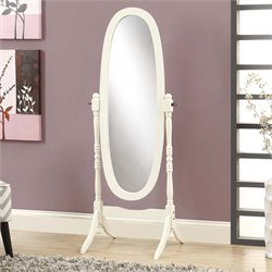 Oval Cheval Mirror in White
