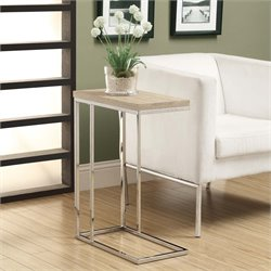 Monarch Side Table in Natural and Chrome