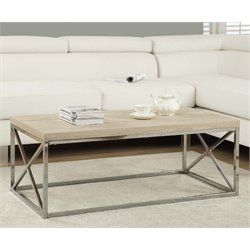 Monarch Coffee Table in Natural and Chrome