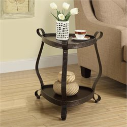Monarch Metal Accent Table in Brown Bronze