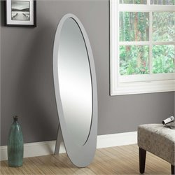 Monarch Oval Contemporary Mirror in Gray