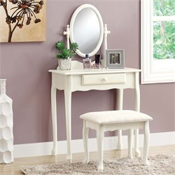 Monarch 2 Piece Bedroom Vanity Set in Antique White