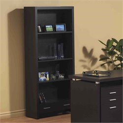 Monarch 4 Shelf Bookcase in Cappuccino