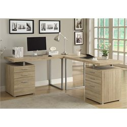 Monarch L Shaped Computer Desk in Natural