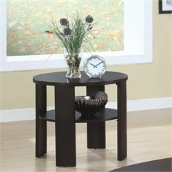 Monarch Round End Table in Cherry