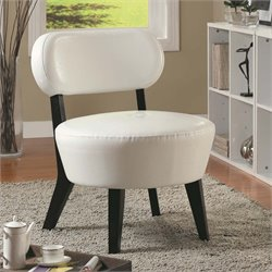 Monarch Leather Accent Chair in Ivory