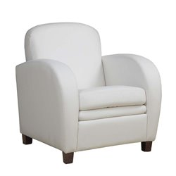 Monarch Faux Leather Accent Chair in White