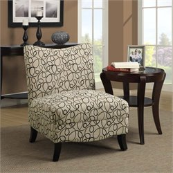 Monarch Fabric Accent Chair in Tan Swirl