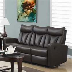 Monarch Leather Reclining Sofa in Brown