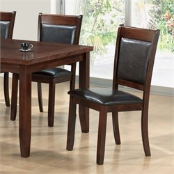 Monarch Faux Leather Dining Chair in Dark Espresso (Set of 2)