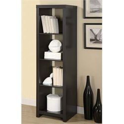 Monarch 4 Shelf Tower Bookcase in Cappuccino