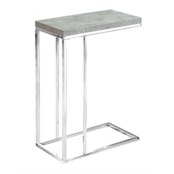 Monarch Accent End Table in Gray Cement