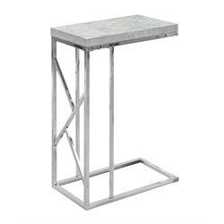 Monarch Accent End Table in Gray Cement and Chrome