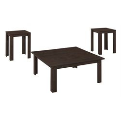 Monarch 3 Piece Coffee Table Set in Cappuccino