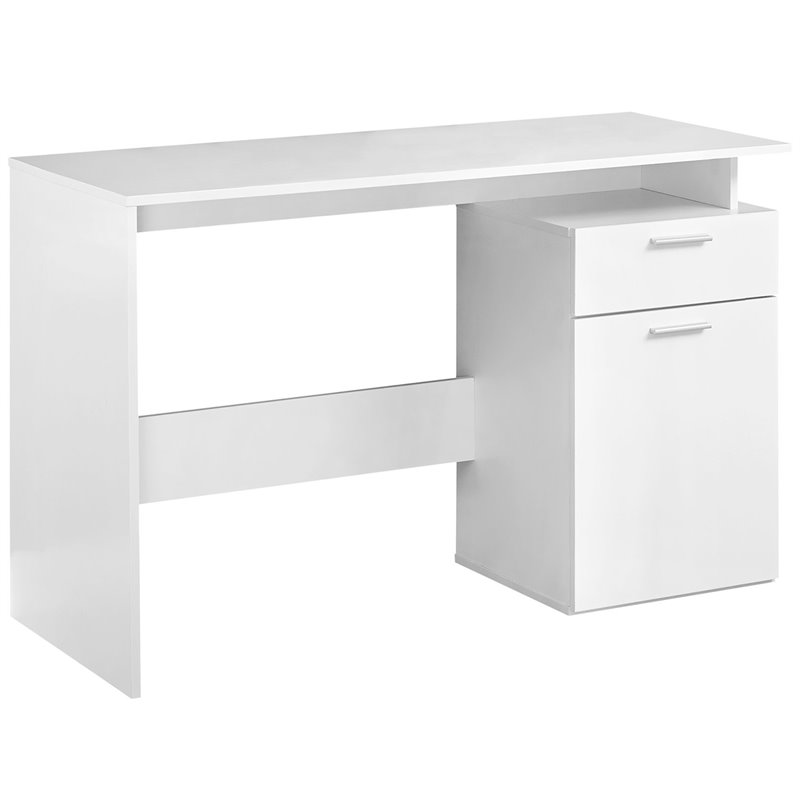 Monarch Computer Desk Storage Cabinet In White