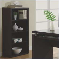 Monarch Flow Wood Bookcase in Cappuccino
