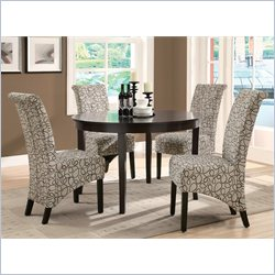 Monarch  Fabric Parson Chair in Tan Swirl (Set of 2)