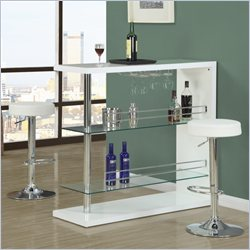 Monarch 360 Degree Swivel  Bar Stool in White and Chrome (Set of 2)