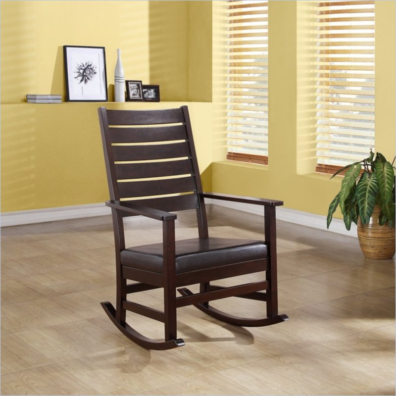 Slat Back Rocking Chair in Cappuccino
