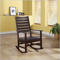 Monarch Slat Back Rocking Chair in Cappuccino