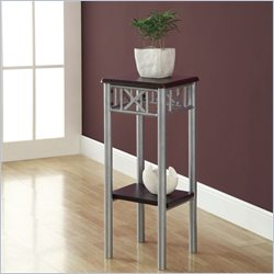 Monarch Plant Stand in Cappuccino and Silver