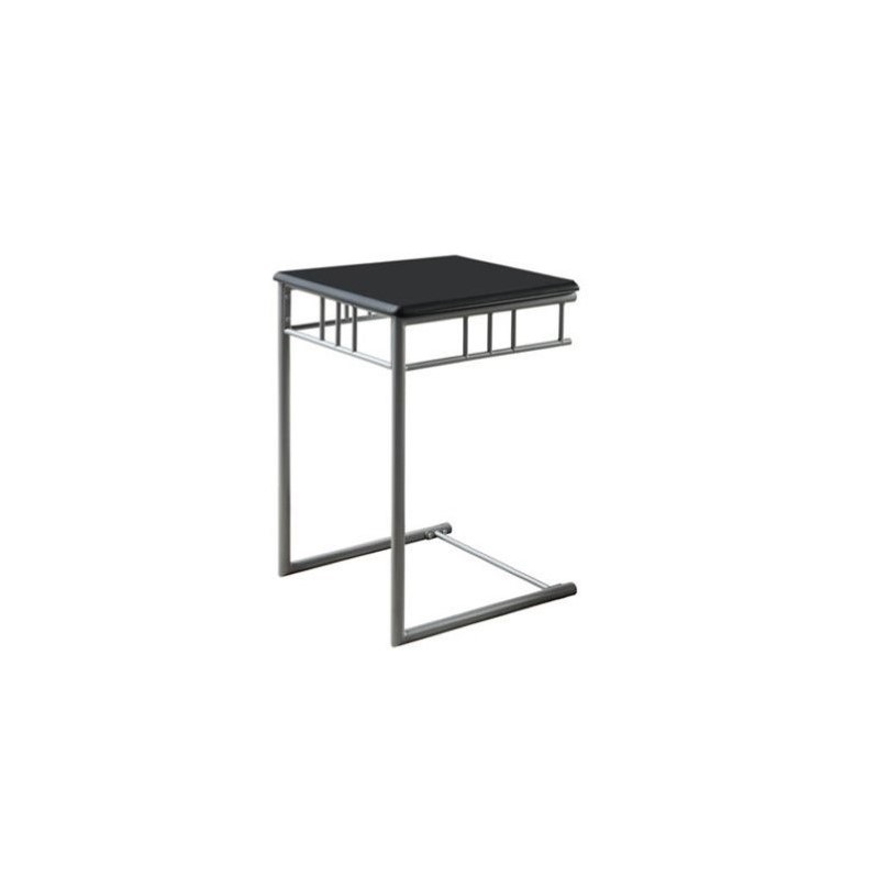 Monarch Metal Snack Table in Black and Silver