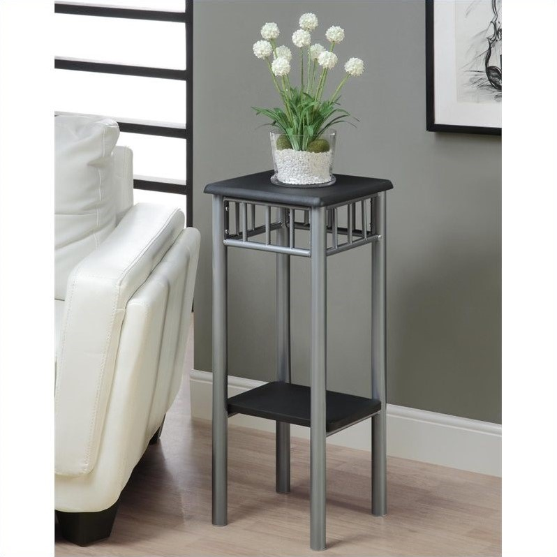 Plant Stand in Black and Silver
