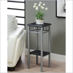 Monarch Plant Stand in Black and Silver