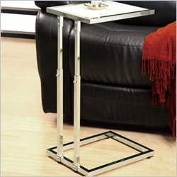 Monarch Metal Adjustable Height Accent Table in Chrome