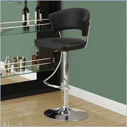 Monarch Hydraulic Lift Bar Stool in Black and Chrome