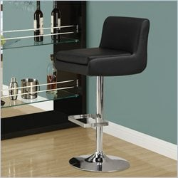 Monarch Hydraulic Lift Bar Stool in Black and Chrome  (Set of 2)