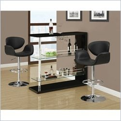 Monarch Hydraulic Lift Bar Stool in Chrome and Black