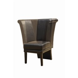 Faux Leather Swivel Dining Chair in Dark Brown (Set of 2)