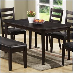 Monarch Cherry Veneer Rectangular Dining Table in Cappuccino