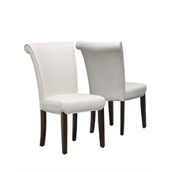 Faux Leather Dining Chair in Taupe (Set of 2)