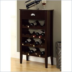 Monarch Wine Rack For 16 Bottles in Cappuccino