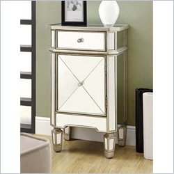 Monarch 1 Drawer Accent Cabinet Mirrored finish