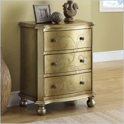 Monarch Transitional 3 Drawer Bombay Chest in Gold
