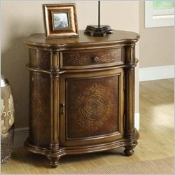 Monarch Traditional 1 Drawer Bombay Cabinet in Light Brown